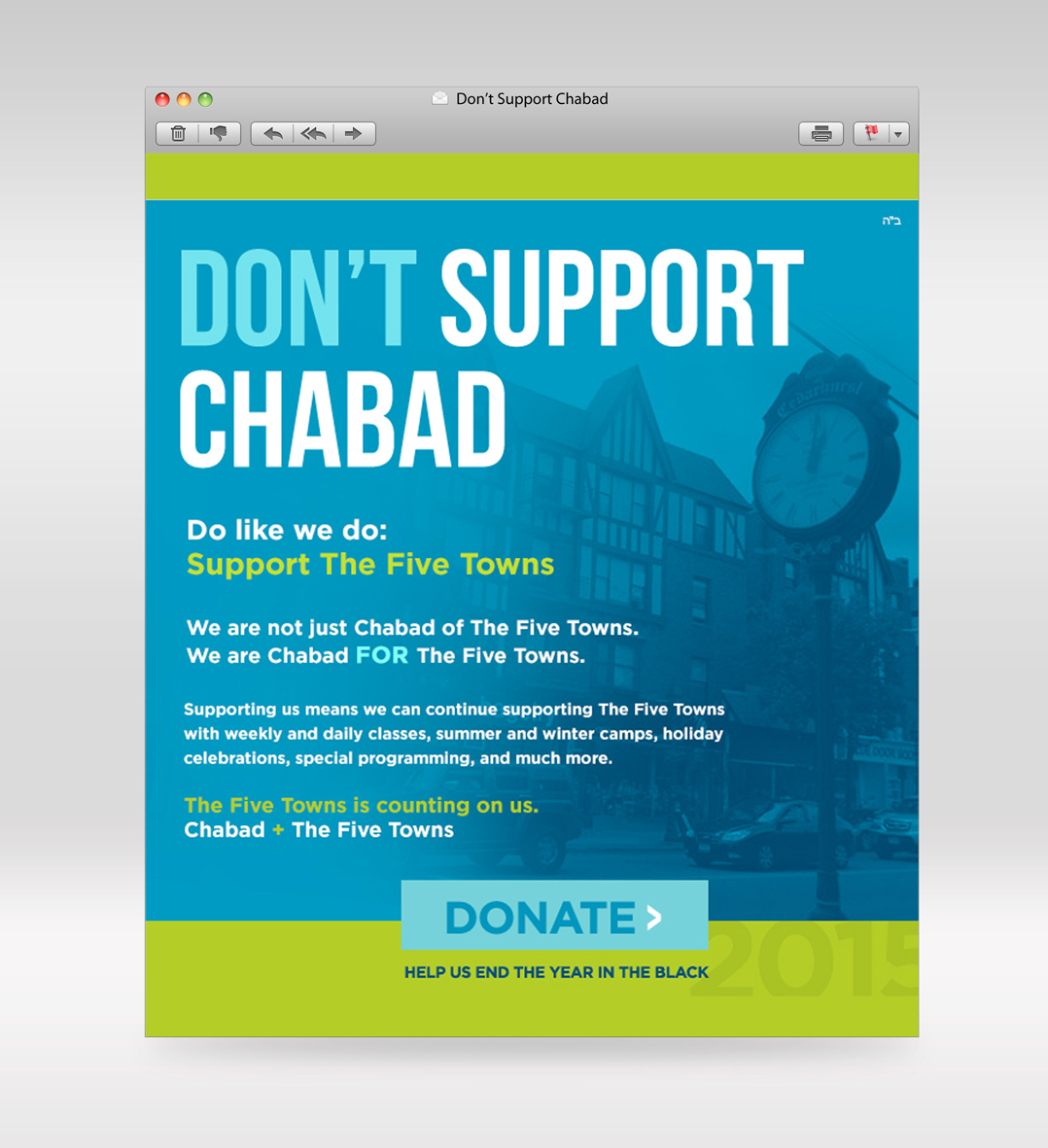 Don't Support Chabad
