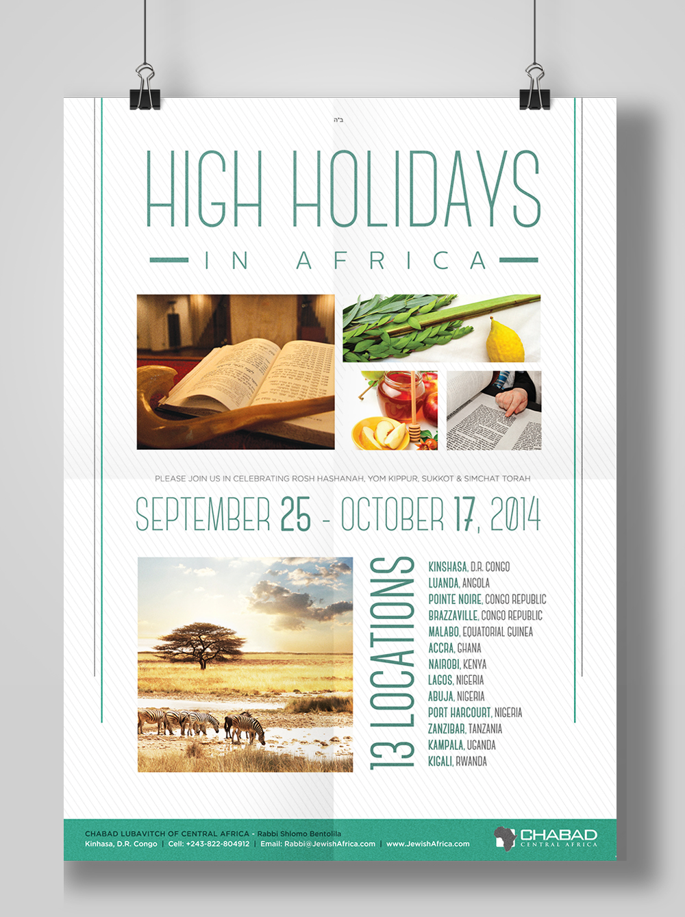 High Holidays - Chabad Central Africa